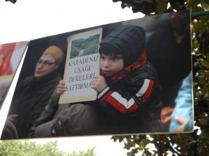 « Homme de la Mer Noire, ne laisse pas vendre les rivières »  (Photo personnelle prise dans le parc de Gezi en juin 2013)
