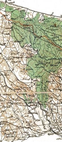 1901 Carte de la Roumélie impériale